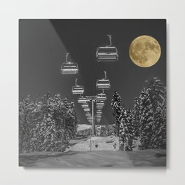 Chair Lift to the Moon Metal Print