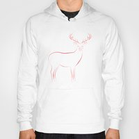 reindeer Hoodies featuring Reindeer by George Williams