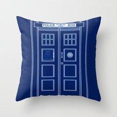 TARDIS Front Door - Doctor Who Throw Pillow
