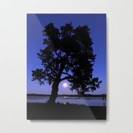 Watching Moonrise Metal Print