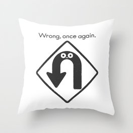 Auto Correct Throw Pillow