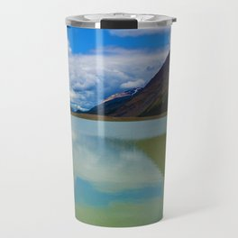 Sunwapta Lake at the Columbia Icefields in Jasper National Park, Canada Travel Mug