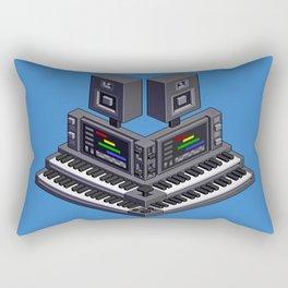 Electronic music altar — isometric pixel art Rectangular Pillow