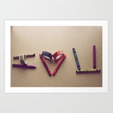 Children Love | I Love You Art Print