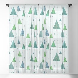 Spruce forest Sheer Curtain