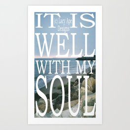 Hipster Photo: It Is Well Art Print