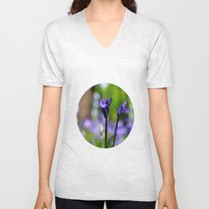 drowning in the bluebell sea Unisex V-Neck