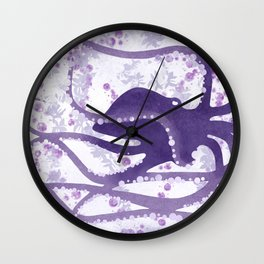 Octopus In The Depths Wall Clock