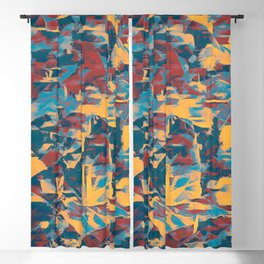 Amber Purple Forest Abstract Blackout Curtain