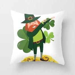Funny Leprechaun Dab Dabbing St Patricks Day Throw Pillow