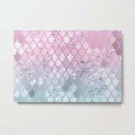Mermaid Glitter Scales #2a (Faux Glitter) Custom #shiny #decor #art #society6 Metal Print