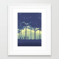 stand by me Framed Art Prints featuring Stand By Me by Ape Meets Girl