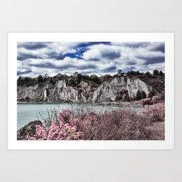 Scarborough Bluffs HDR and Infrared II Art Print