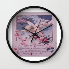 A Century Ago (Rose Tones) Wall Clock