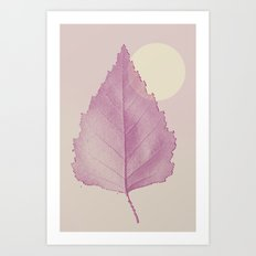 Delicate Leave Art Print