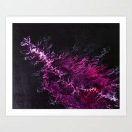 Purple thunder Art Print