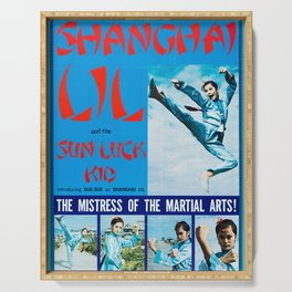 Shanghai Lil and the Sun Luck Kid Serving Tray