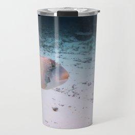 Maldives Wildlife Coral Fish In Turquoise sea Travel Mug