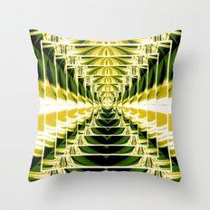 Abstract.Green,Yellow,Black,White,Lime. Throw Pillow