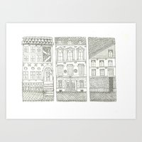 the neighbourhood Art Prints featuring Neighbourhood by Willy Ollero