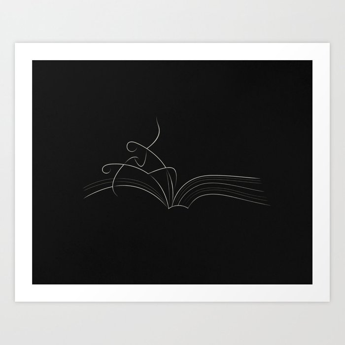 The Beginning Pages of Romance Art Print
