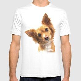 Curious Dog Portrait T-shirt