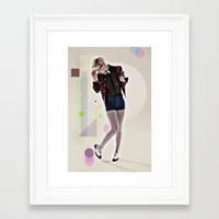 8 bit Framed Art Prints featuring 8 Bit by MCGRORY