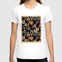 blankets T-shirts featuring Jazz Rhythm (negative) by Chicca Besso