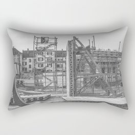 Construction site in the city Rectangular Pillow