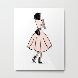 Bouclée Fashion Illustration Metal Print