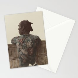 19th Century Japanese Tattoo (Fence) Stationery Cards