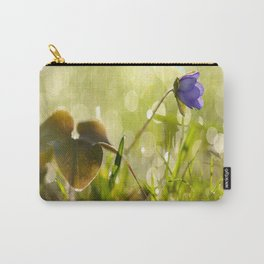 Beautiful spring - first flower little anemone with beautiful bokeh in green background Carry-All Pouch