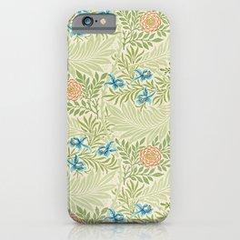 William Morris Larkspur pattern. Finest American art. iPhone Case