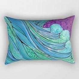 The Ocean In A Storm Rectangular Pillow