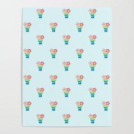 Kawaii Spring lovers pattern Poster