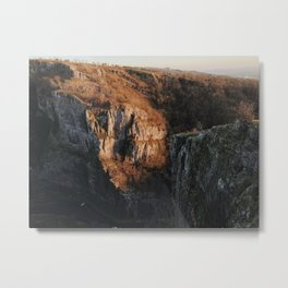 Gorge Cliff Metal Print