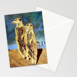 Mamma and Papa Meerkats Stationery Cards