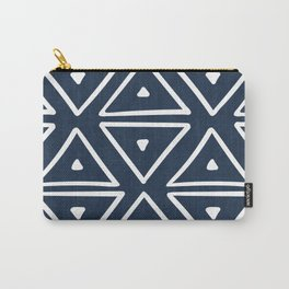 Big Triangles in Navy Carry-All Pouch