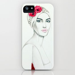 Poppy Flower Girls iPhone Case