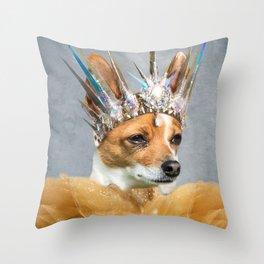 DogGina Throw Pillow