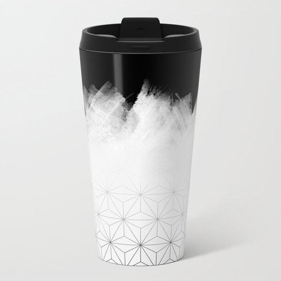 Christmas Geometric Pattern Metal Travel Mug