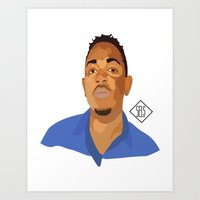 kendrick lamar Art Prints featuring Kendrick Lamar by SELS - Sebastian Emilio Luna Sevilla