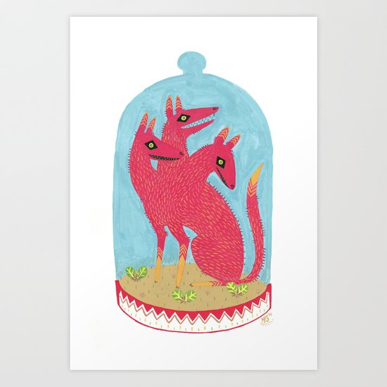 Don't Keep Your Hellbeasts in Glass Jars  Art Print