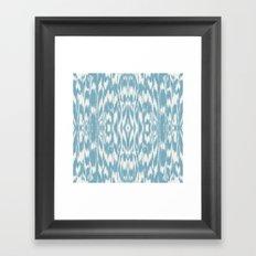 Ikat: Light Blue Ivory Framed Art Print