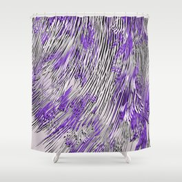 feathered lines Shower Curtain