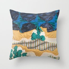 Deserted Stormscape Throw Pillow