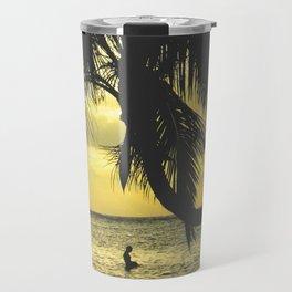 Sunset on the Island Travel Mug
