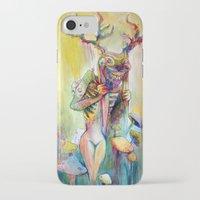 jackalope iPhone & iPod Cases featuring Jackalope by Lady Nostalgia