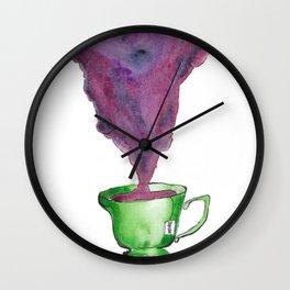 Rosette Tea Wall Clock