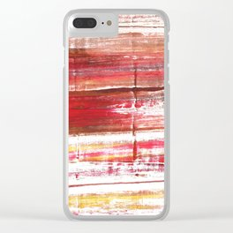 Lavender blush abstract watercolor Clear iPhone Case